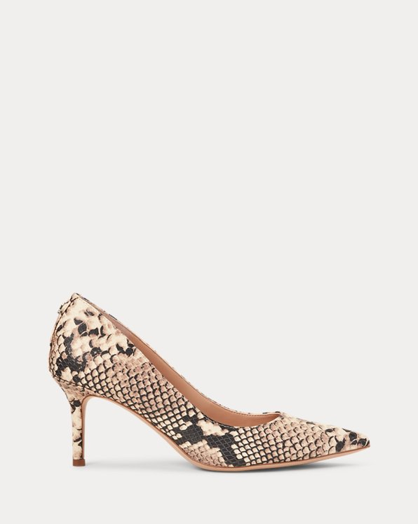 Lanette Print Leather Pump
