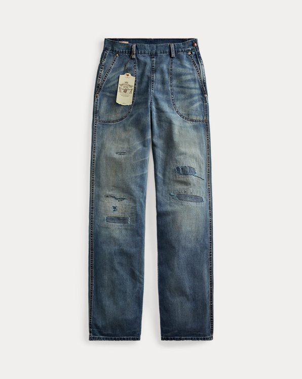 Repaired Straight Jeans