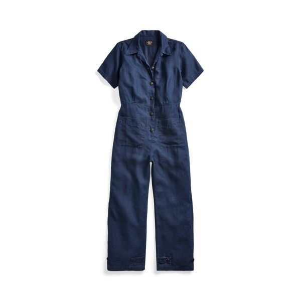 폴로 랄프로렌 Polo Ralph Lauren Indigo Linen Coverall,Brielle Wash
