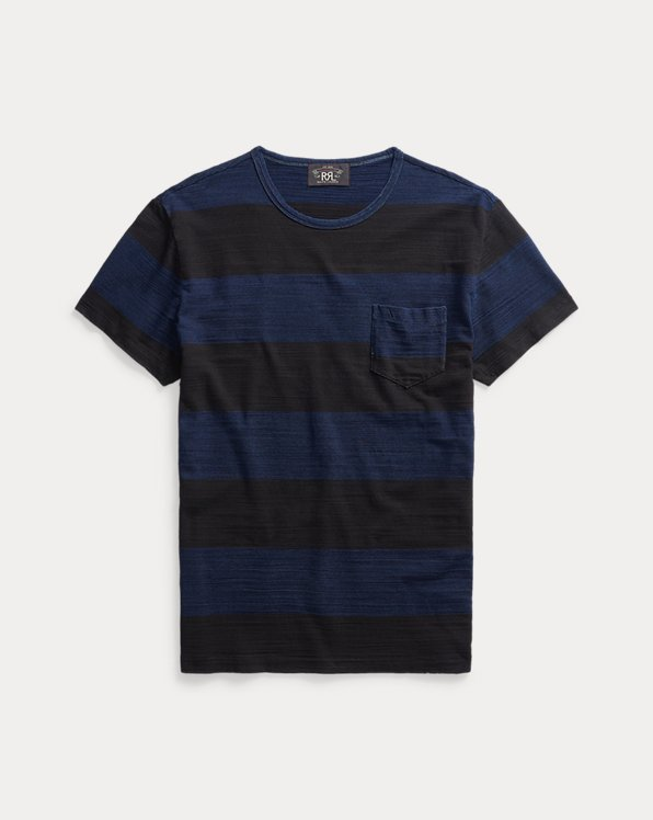 Indigo Striped Pocket T-Shirt