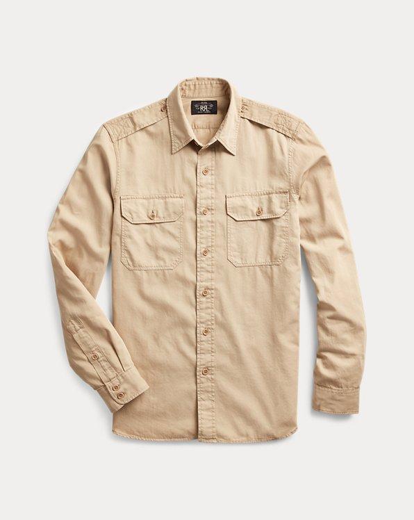 Konfektioniert gefärbtes Slim-Fit-Twillhemd
