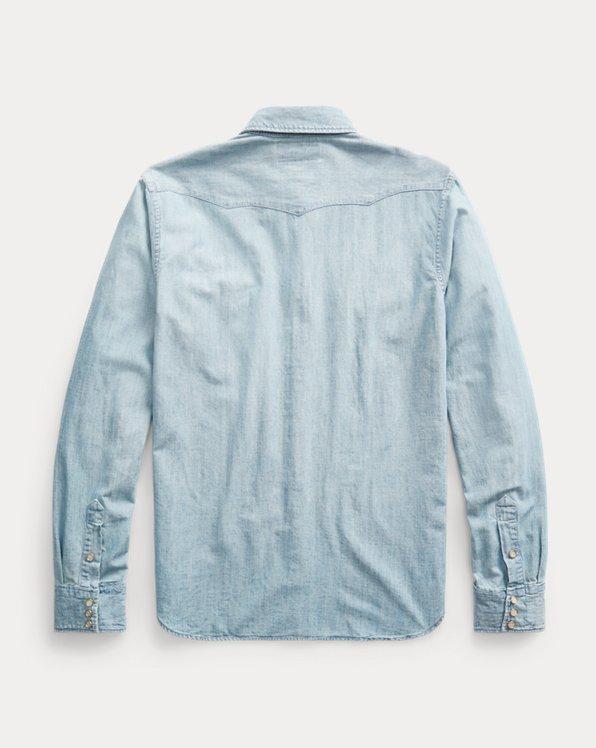 Slim Fit Chambray Western Shirt