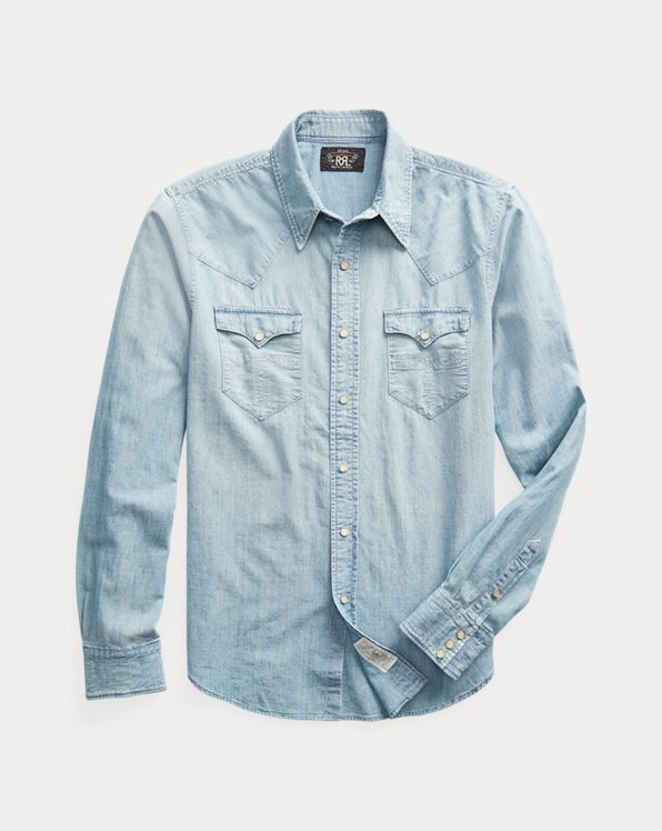 Slim Fit Chambray Western Shirt