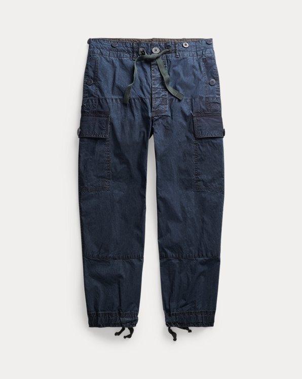 Straight Indigo Cargo Pant
