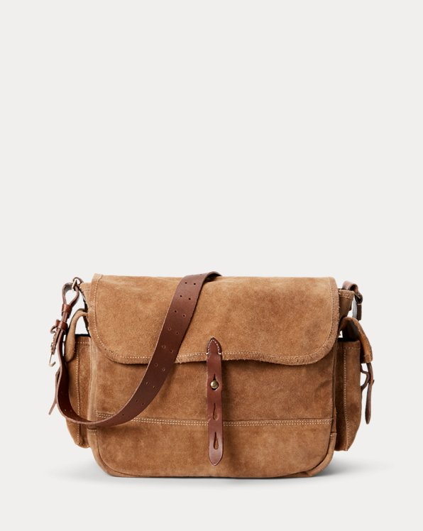 Roughout Suede Messenger Bag