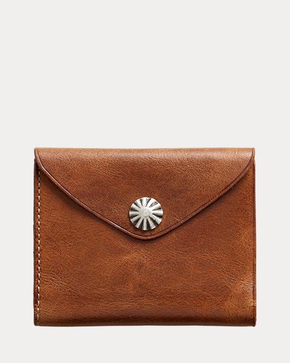 Concho-Geldbörse aus Leder