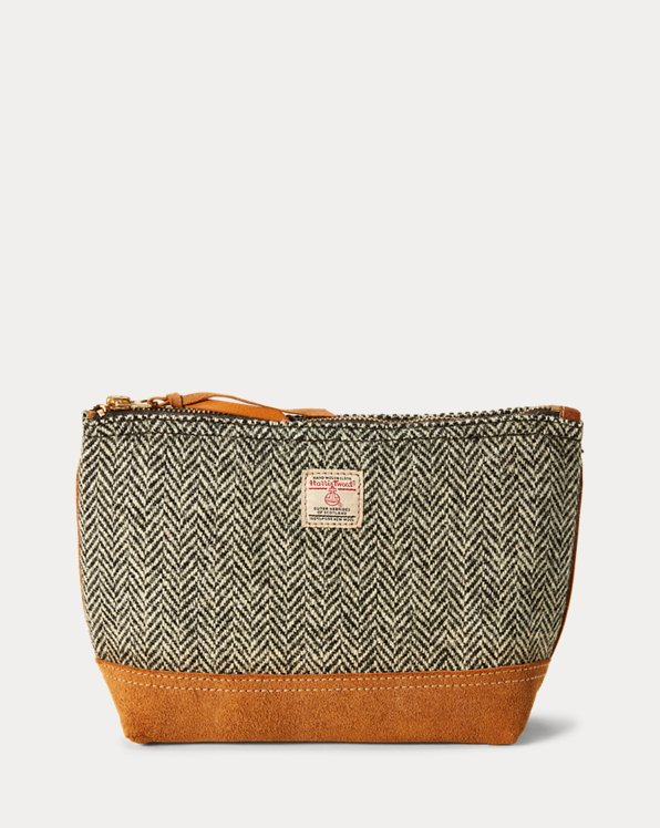 Cartera Harris de tweed y ante