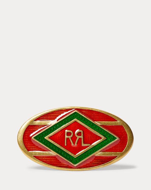Broche esmaltado western RRL