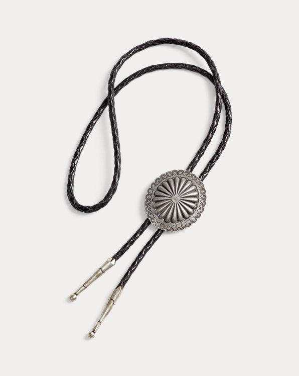Braided Leather Bolo Tie