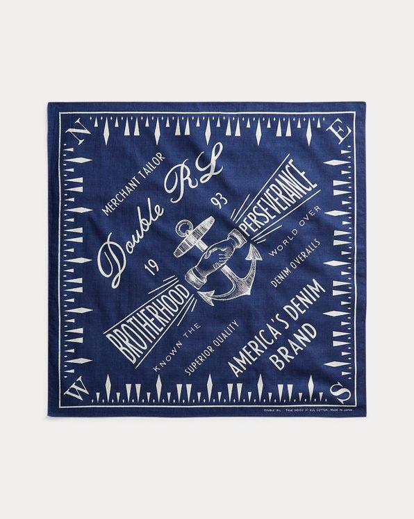 Anchor-Print Cotton Bandanna