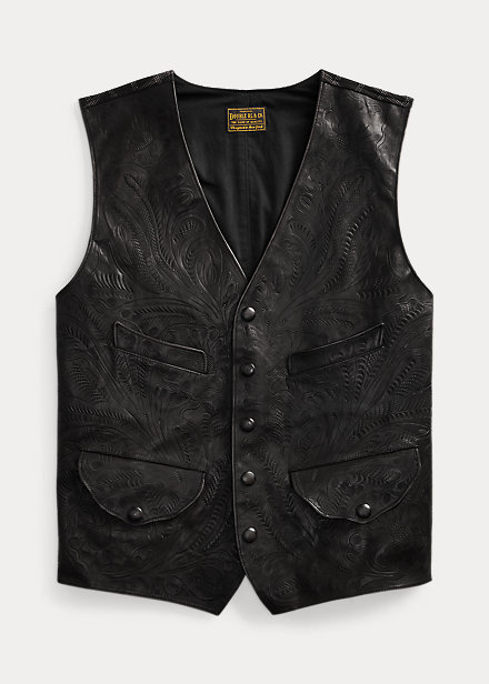 Polo RalphLauren Hand-Tooled Leather Vest