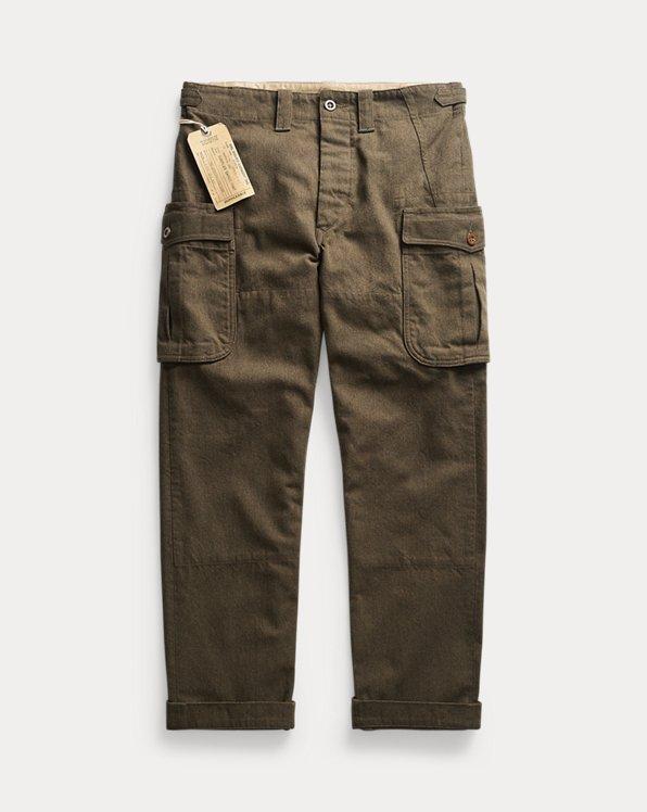 Pantalon cargo en sergé