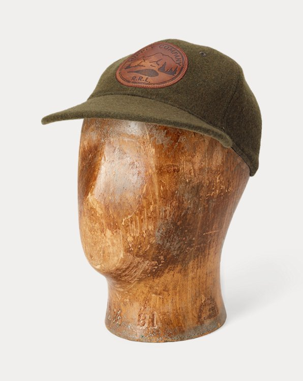 Wool-Blend Fitted Ball Cap