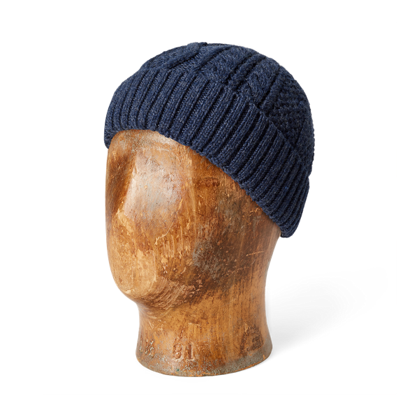 Aran-Knit Merino Wool Watch Cap