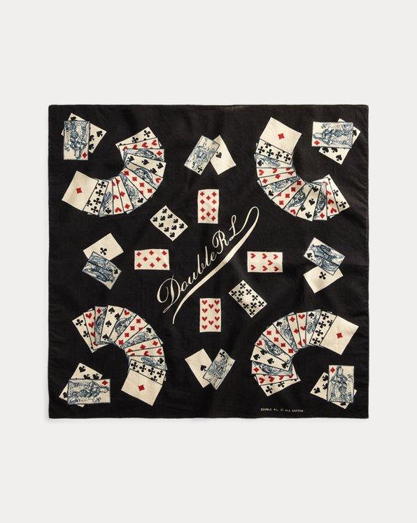 Playing Card-Print Cotton Bandanna