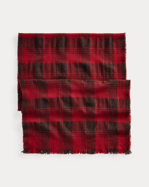 Plaid Lambswool-Cashmere Scarf