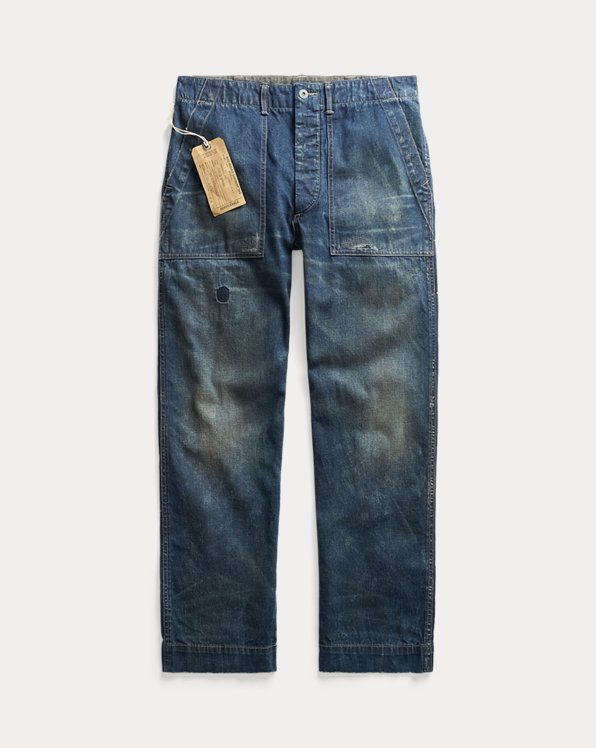 Straight Utility Jeans