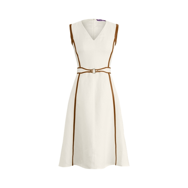 Ralph Lauren CHANNING BELTED DAY DRESS