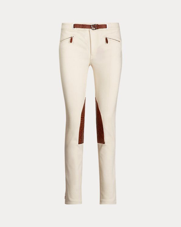 Leather-Trim Jodhpur Jean