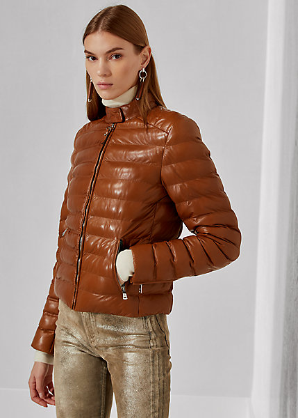 Polo RalphLauren Freja Quilted Leather Jacket