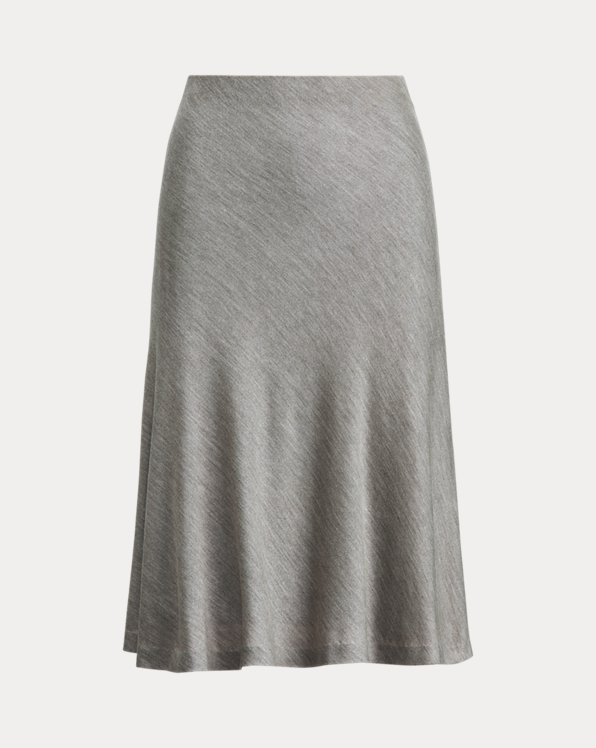 Silk Bias-Cut Skirt