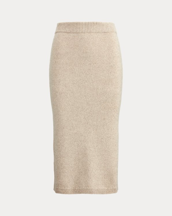 Mouline Cashmere Pencil Skirt