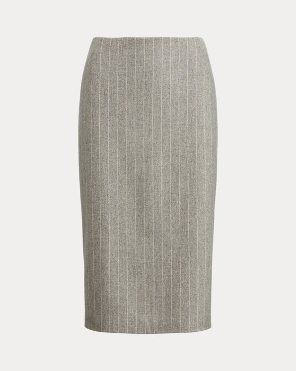 Cynthia Wool Flannel Skirt
