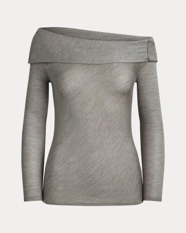 Draped Silk Sweater