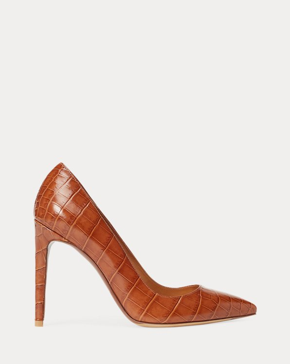 Celia Embossed Calfskin Pump by Ralph Lauren Collection, available on ralphlauren.com for $675 Kate Middleton Shoes SIMILAR PRODUCT