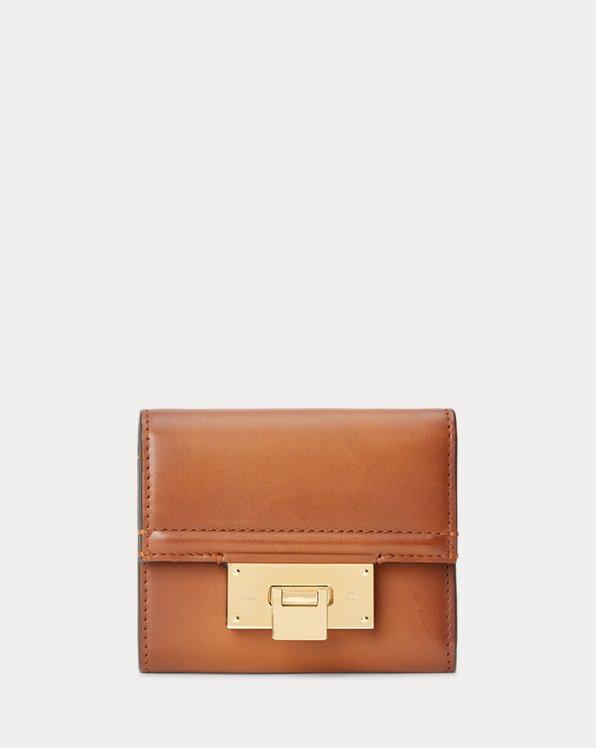 Burnished Petite Hinge-Lock Wallet
