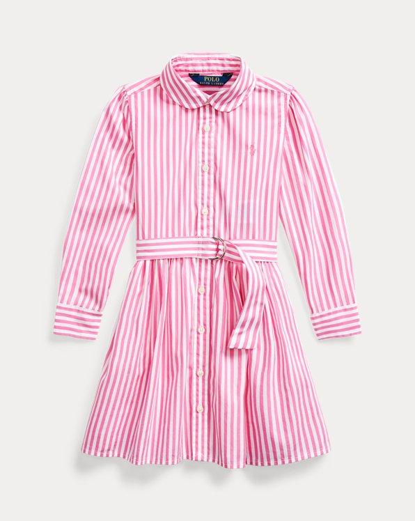 폴로 랄프로렌 여아용 셔츠 원피스 Polo Ralph Lauren Striped Cotton Shirtdress,Pink Multi