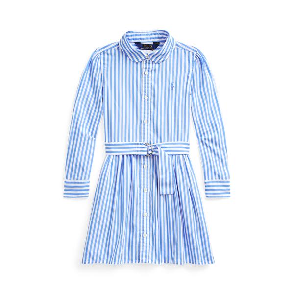 폴로 랄프로렌 여아용 셔츠드레스 Polo Ralph Lauren Striped Cotton Shirtdress,Blue Multi