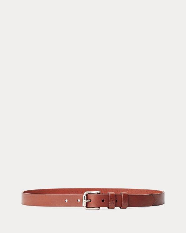 Leather Roller-Buckle Belt