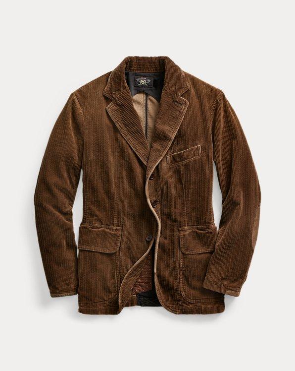 Suede-Trim Corduroy Sport Coat