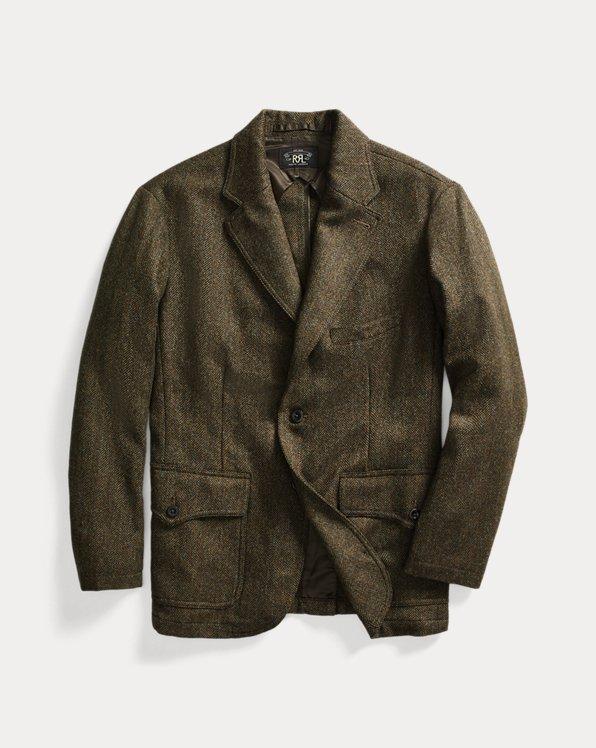 Tweed-Sakko aus Wollmischung
