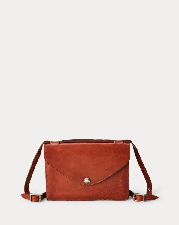 Concho-Snap Leather Bag
