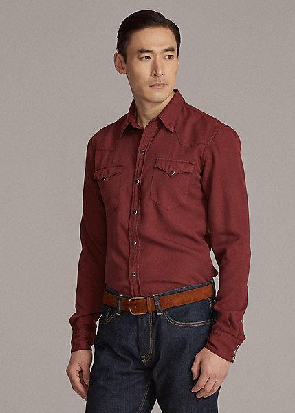 Polo RalphLauren Garment-Dyed Twill Western Shirt