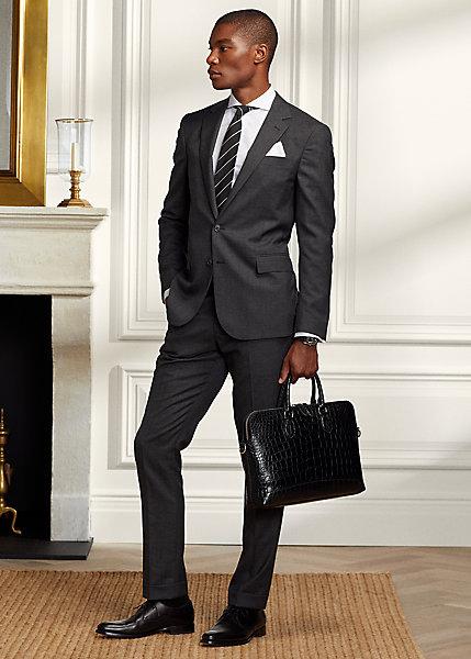 Polo RalphLauren Gregory Traveler Glen Plaid Wool Suit