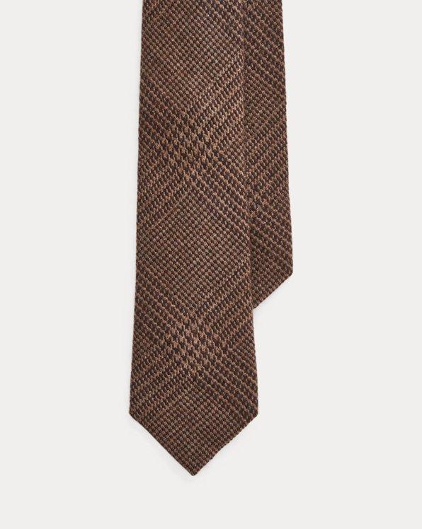 Glen Plaid Cashmere-Silk Tie