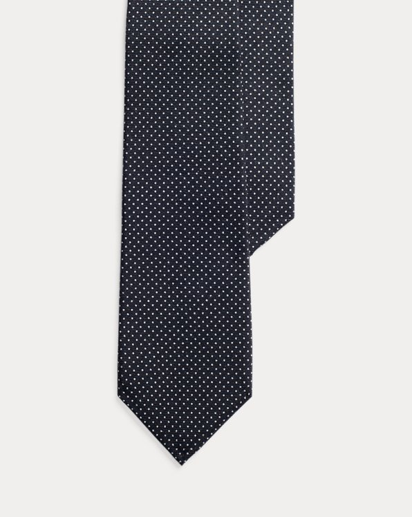 Pin Dot Cashmere-Silk Tie