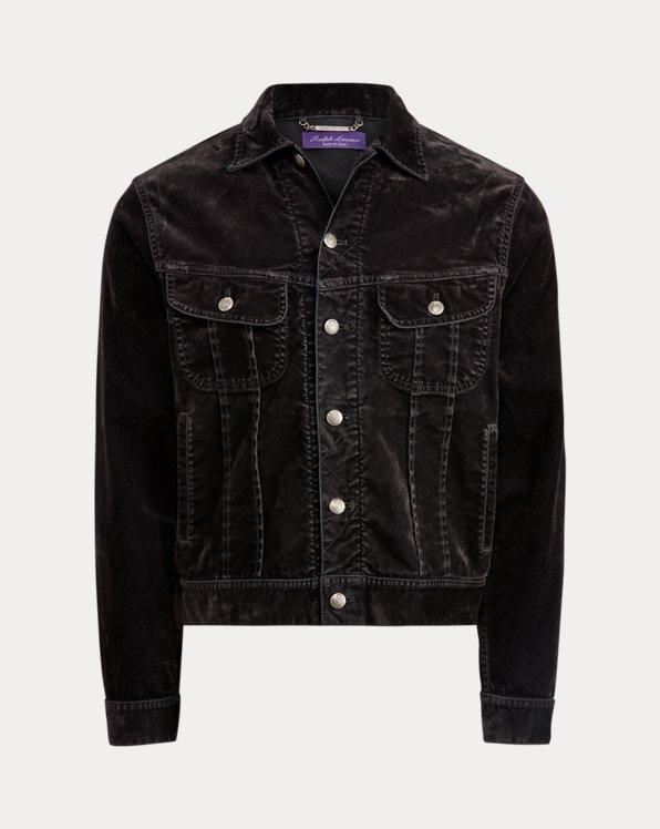 Slim Fit Stretch Velvet Jacket