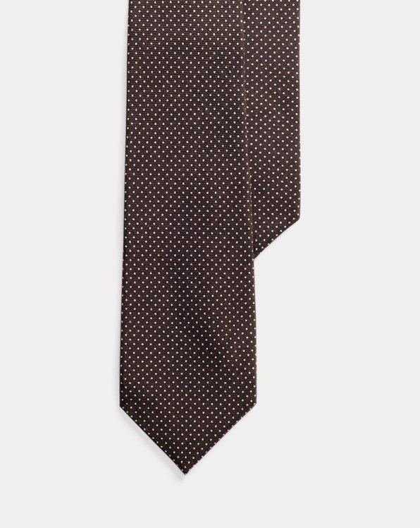 Pin Dot Cashmere-Silk Tie