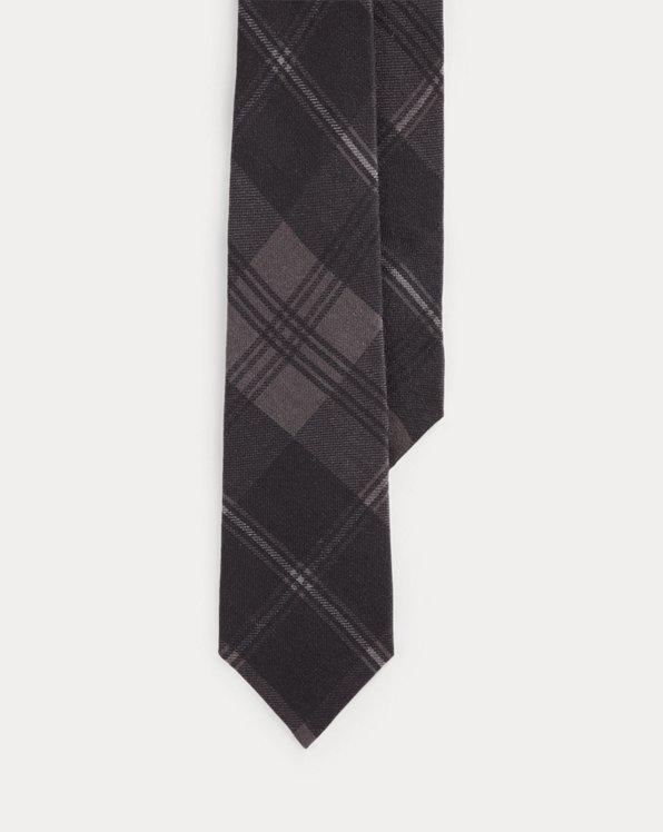 Plaid Cashmere-Silk Tie