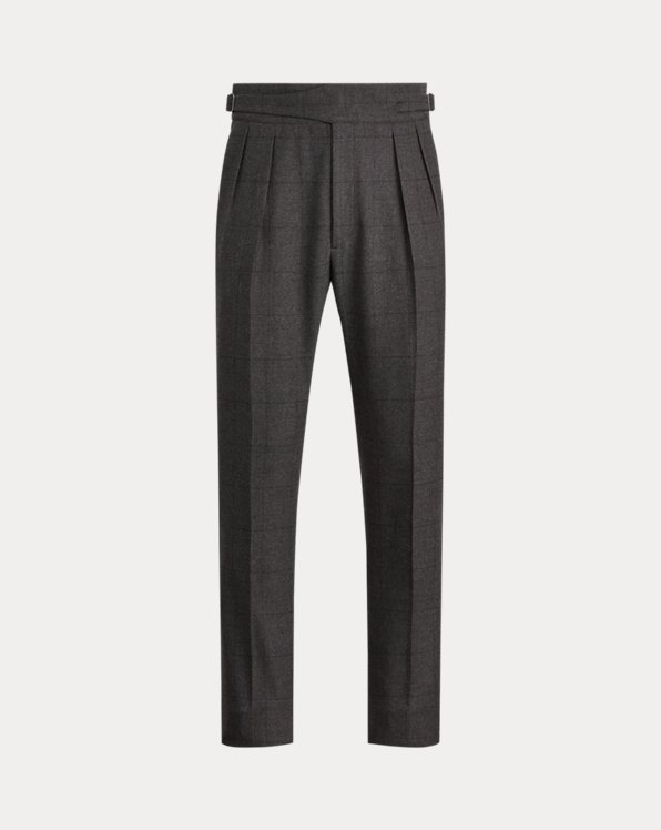 Gregory Windowpane Wool Trouser
