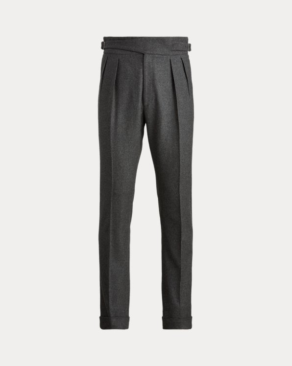 Buckled Wool Flannel Trouser