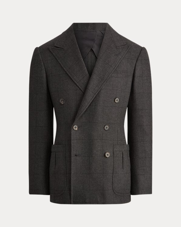 Kent Windowpane Wool Suit Jacket