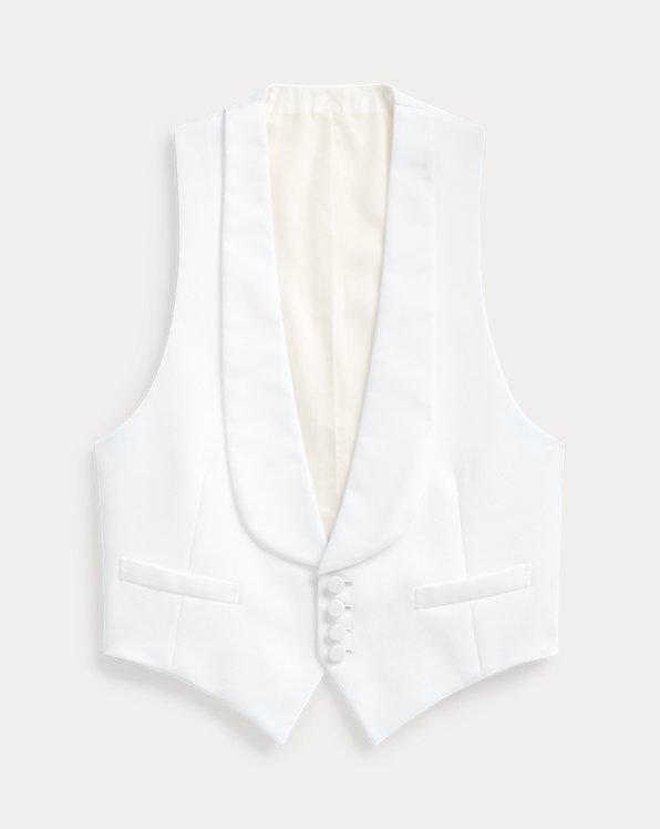 Handmade Pique Shawl Waistcoat
