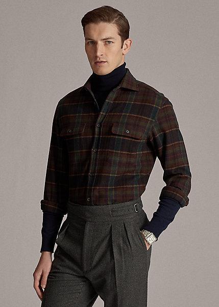 Polo RalphLauren Plaid Lambswool-Cashmere Shirt