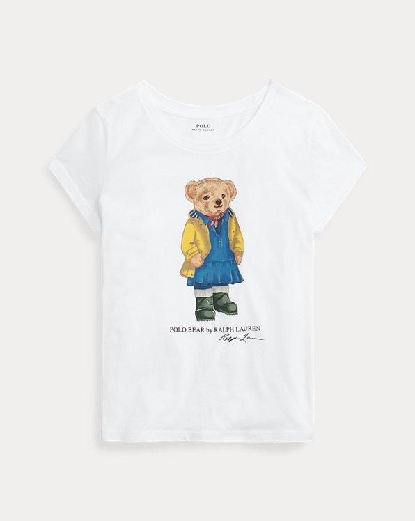 폴로 랄프로렌 Polo Ralph Lauren Raincoat Bear Jersey Tee,White