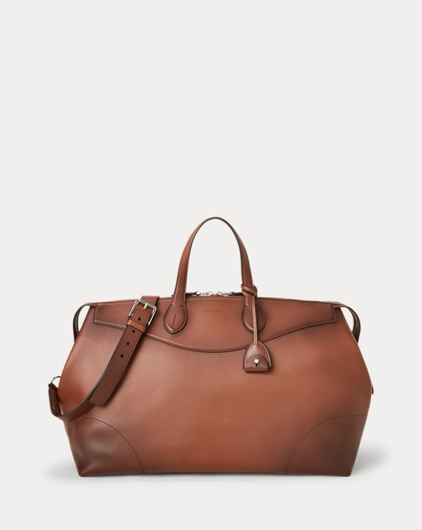 Burnished Calfskin Voyager Duffel
